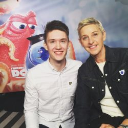 Ben Horrigan and Ellen DeGeneres.