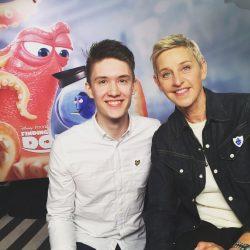 Ben Horrigan and Ellen DeGeneres.