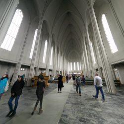 Interior of Hallgrímskirkja in Reykjavík.