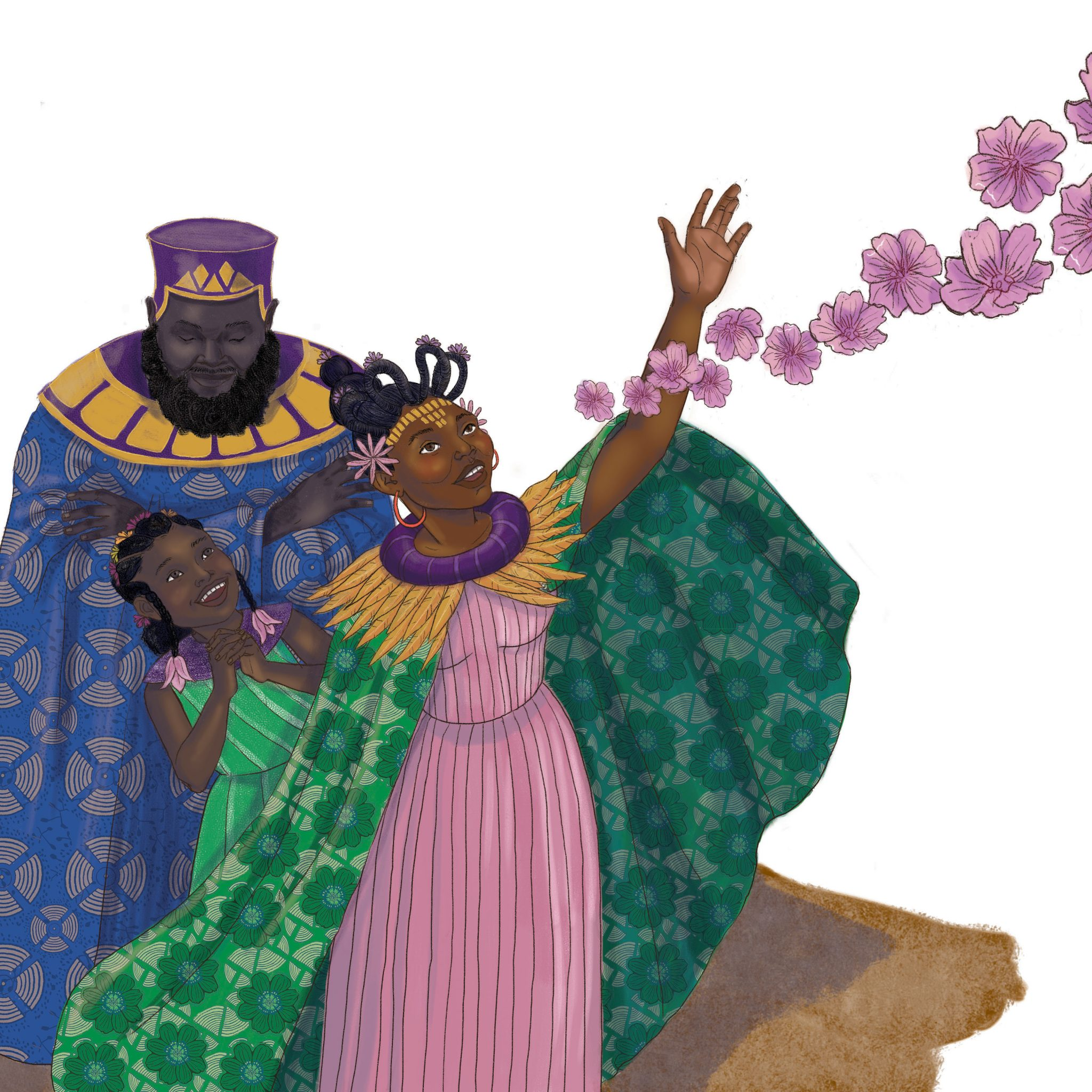 Illustration by Cherise Harris, from Nia and the Kingdoms of Celebration by Philip Robinson.