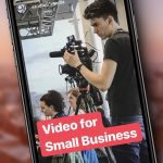 Video for small business: Ben Horrigan filming an event.