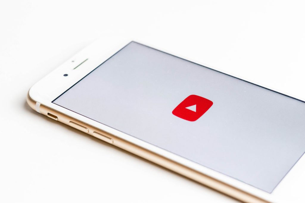 YouTube video content on an iPhone
