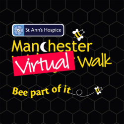 St Ann's Hospice Manchester Virtual Walk logo. Bee part of it.